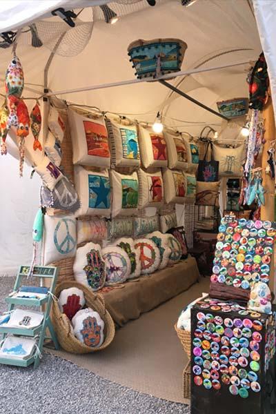 Las Dalias hippimarkt Ibiza kraampje