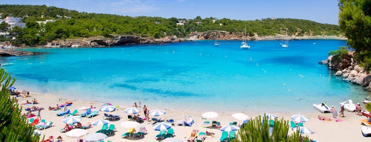 Portinatx is een rustige badplaats in het noorden van Ibiza